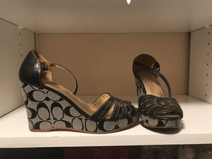 Authentic Coach Wedge Sandals size 7.5 $60 for Sale in Los Angeles, CA
