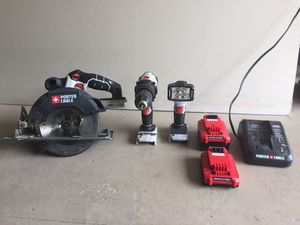 20 Volt Max Lithium Ion Battery Powered🔋 Porter Cable 3 Tool Set - Great Condition! for Sale in Buford, GA