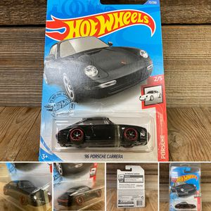 REPACKAGED CUSTOM 1/64 1:64 '96 Porsche Carrera (Lowered + camber with upgraded premium 6-spoke black wheels with red lip) for Sale in Orange, CA
