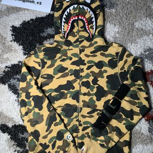 Bape Yellow Camo Detachable Shark Hoodie for Sale in Middletown, CT