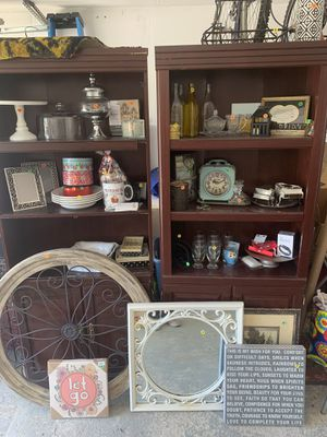 Home decor, book shelves, wall decor, cake stand etc for Sale in Fort Worth, TX