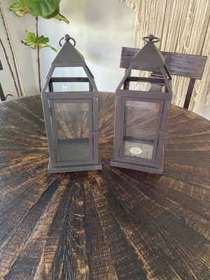 Pier One lanterns small size black for Sale in Redlands, CA