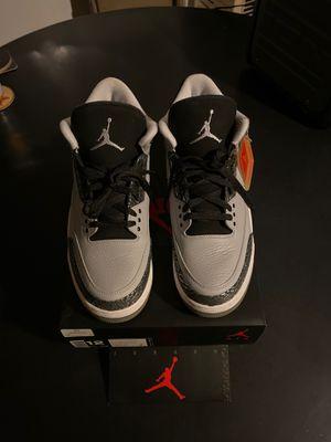 Jordan 3 Retro Wolf Grey, size 12 for Sale in Fontana, CA