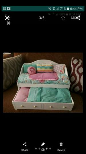 American girl doll couch and bed for two 18in American girl dolls for Sale in NO FORT MYERS, FL