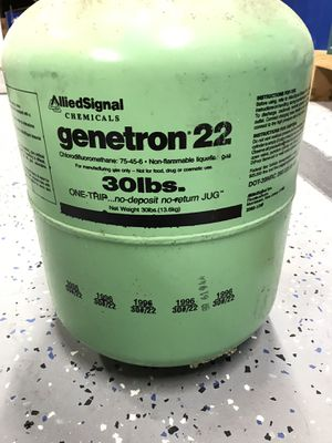 Genetron 22 Freon - 14 lbs in a 30 lbs tank for Sale in Raleigh, NC