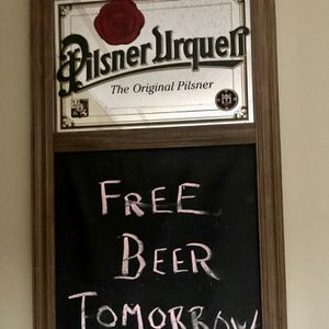 Vintage Pilsner Urquell Mirror & Chalk Board for Sale in Antioch, IL