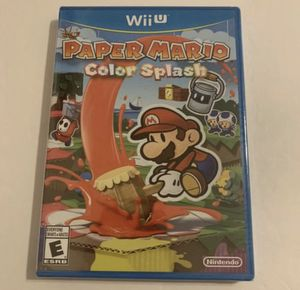 Paper Mario Color Splash (Nintendo Wii U, 2016) NEW FACTORY SEALED for Sale in Katy, TX