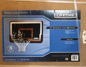 Lifetime Basketball Backboard Rim Combo 3819 44 Inch Impact Backboard for Sale in Blackstone, MA