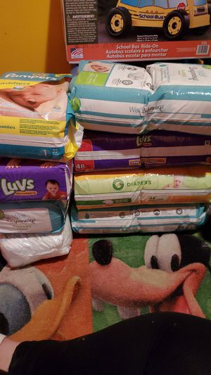 Size 1 diapers 1 pack of newborn for Sale in Richmond, VA