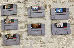 Super Nintendo Video Games - Super Mario , Donkey Kong , UN Squardon - $25 EACH for Sale in Kent, WA