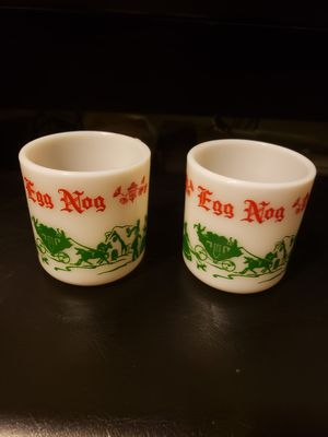 """Set of Christmas """"Eggnog"""" mugs for Sale in Aberdeen, MD"""