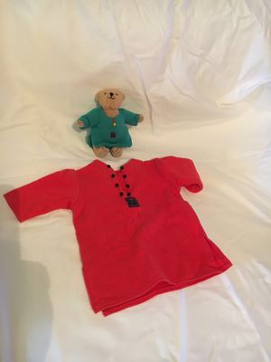 American Girl Retired Red Pajama and Teddy Bear Set for Sale in Hillsboro, OR