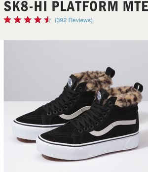 Vans Sk8-Hi Platform - VN0A3TKOUQG - Black / Leopard Fur - Women's 6.5 Men's 5.0 for Sale in Puyallup, WA