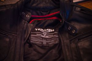 Triumph Steve McQueen Leather Motorcycle Jacket for Sale in Portland, OR