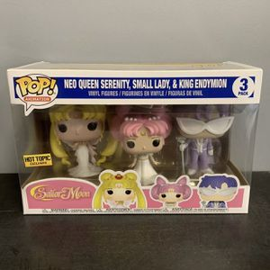 Neo Queen Serenity sailor moon funko pop 3 pack Exclusive Rare! for Sale in Prior Lake, MN