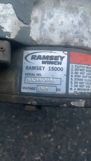 Ramsey patriot 15000lb winch for Sale in Puyallup, WA