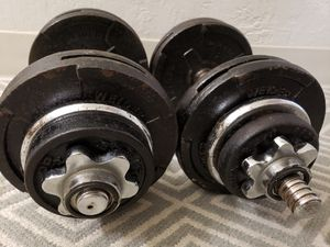 2x35lb adjustable dumbbells for Sale in Hayward, CA