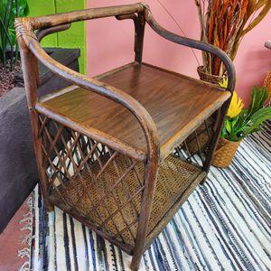 Vintage Boho Rattan Cane Wicker Console Table for Sale in Montebello, CA