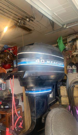 Boat motor 40hp mercury outboard motor for Sale in Houston, TX