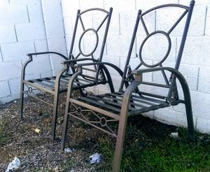 Pair of Wrought Iron Patio Chairs for Sale in Scottsdale, AZ