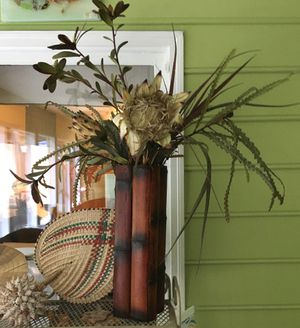 Bamboo vase and plant. Very beautiful for Sale in Atlanta, GA