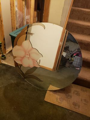 Large round decorative wall mirror for Sale in Wexford, PA