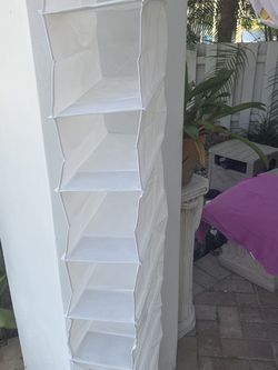 White Ten Compartment Closet Organizer For Shoes, Purses, Socks, Etc for Sale in Fort Lauderdale,  FL