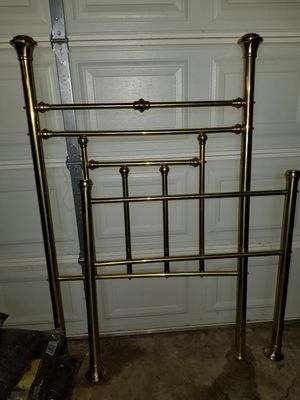 Brass single bed with frame for Sale in Crystal City, MO