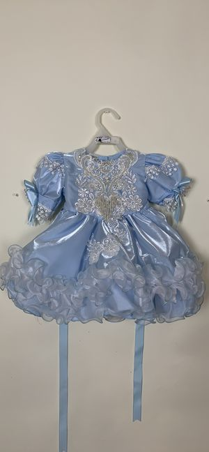Baby blue flower girl/pageant cupcake dress sz 12M for Sale in Austin, TX