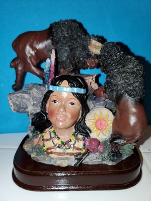 Meerchi Indian maiden watches buffaloes raging for Sale in Yucaipa, CA