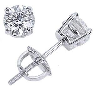 1/4 carat 14k white gold diamond stud earrings for Sale in Portland, OR