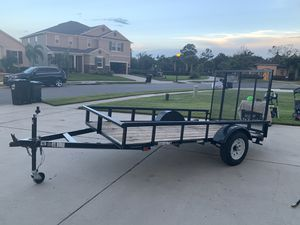 Utility Trailer 10 x 5 used once for Sale in Orlando, FL