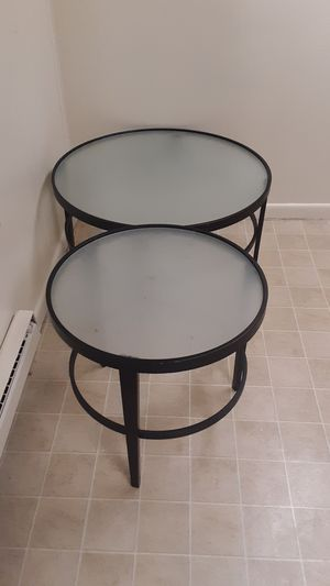 Glass coffee table and matching stand for Sale in Bethlehem, PA
