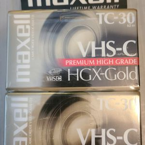 Maxwell vhs-C Tapes Sealed 4 Pk for Sale in Gaithersburg, MD