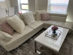 Bonded leather sectional sofa (white) for Sale in Washington, DC
