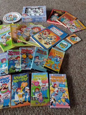Raggedy Ann & Andy books, VHS and more for Sale in Imperial Beach, CA