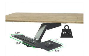 KT2 Ergonomic Under-Desk Keyboard Tray w/ Large Adjustable Height Range + Negative Tilt best sit stand standing desk computer stand holder for Sale in Chicago, IL