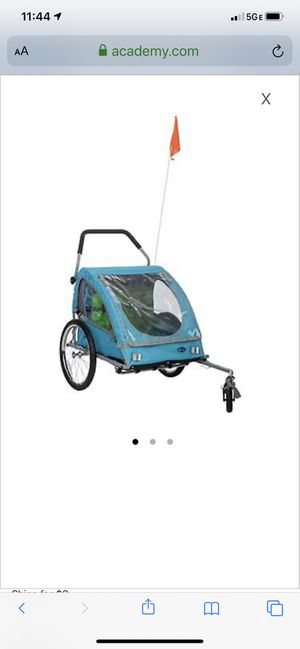 Bell smooth sailor 2 child bicycle trailer and stroller for Sale in Fort Lauderdale, FL