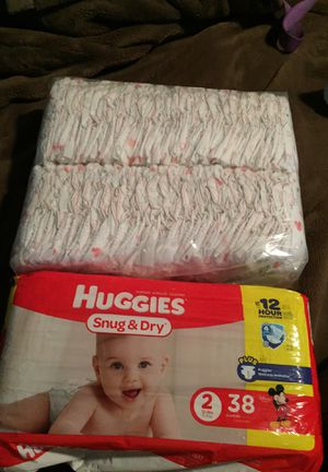 Huggies newborn diapers and size 2 for Sale in Lakeside, CA