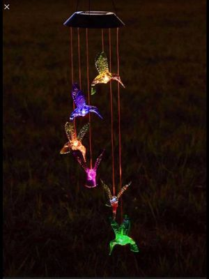Solar LED Wind-chimes / Different Styles Humming Board / Sea Shell / Tree for Sale in Chino, CA