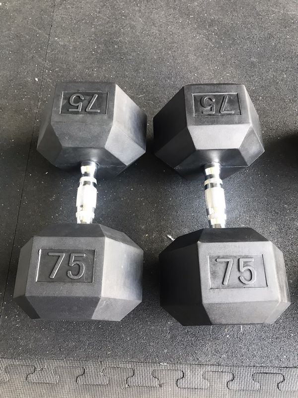 DUMBBELLS BRAND NEW PAIR IF 75's , 1.75 pound