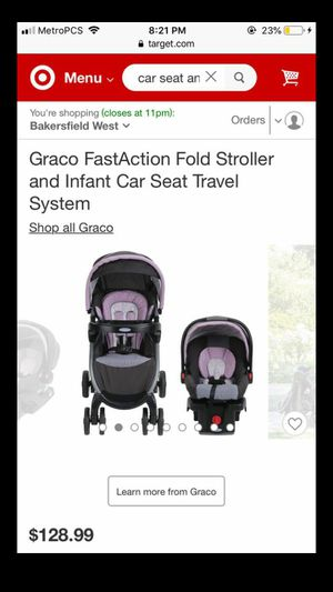 Graco FastAction Fold Stroller and Infant Car Seat Travel System for Sale in Bakersfield, CA