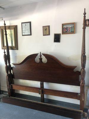 King bed frame. Solid wood. for Sale in Rosenberg, TX