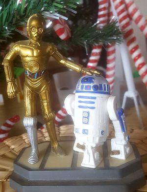"Vintage Star Wars Artoo R2-D2 & C3PO figure toy, plastic, 6"" Applause 1997 for Sale in Riverside, CA"