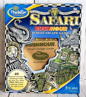 Safari Rush Hour Jungle Escape Game / PUZZLE Thinkfun 100% COMPLETE & MINT for Sale in Harrisonburg, VA