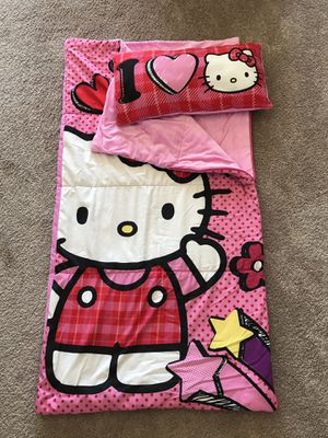 Hello Kitty Sleeping /Camping Bag & Blanket for Sale in Roseville, CA