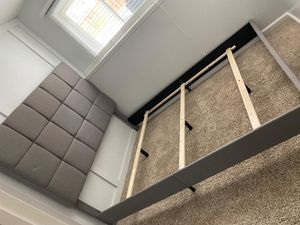 MUST GO- OPEN BOX NEVER USED BEDROOM SET QUEEN! BED FRAME AND BOX AND BRAND NEW MATTRESS AND DRESSER VALUE $1500 for Sale in Independence, OH