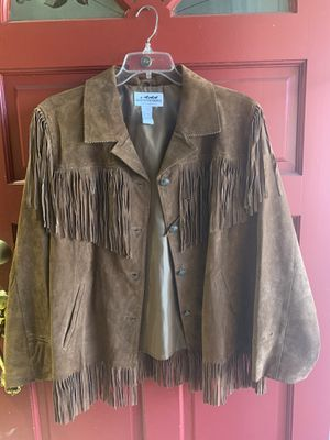 Leather fringe suede XL jacket for Sale in San Jose, CA