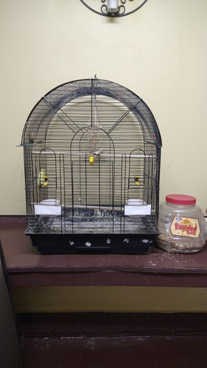 Bird cage with accessories for Sale in Lowell, MA