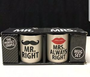 Mr. And Mrs. Coffee Mug Set Mr Right Mrs Always Right for Sale in San Diego, CA